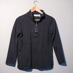 Black Half-Zip Long Sleeve